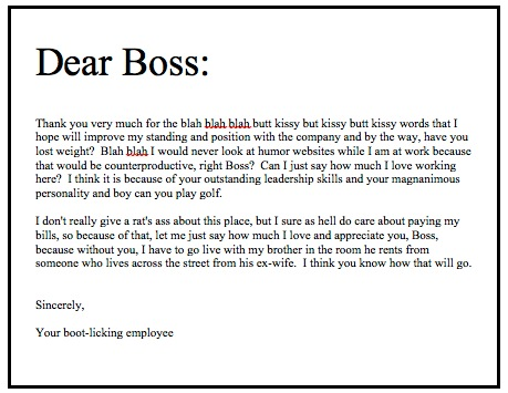 letter to my boss